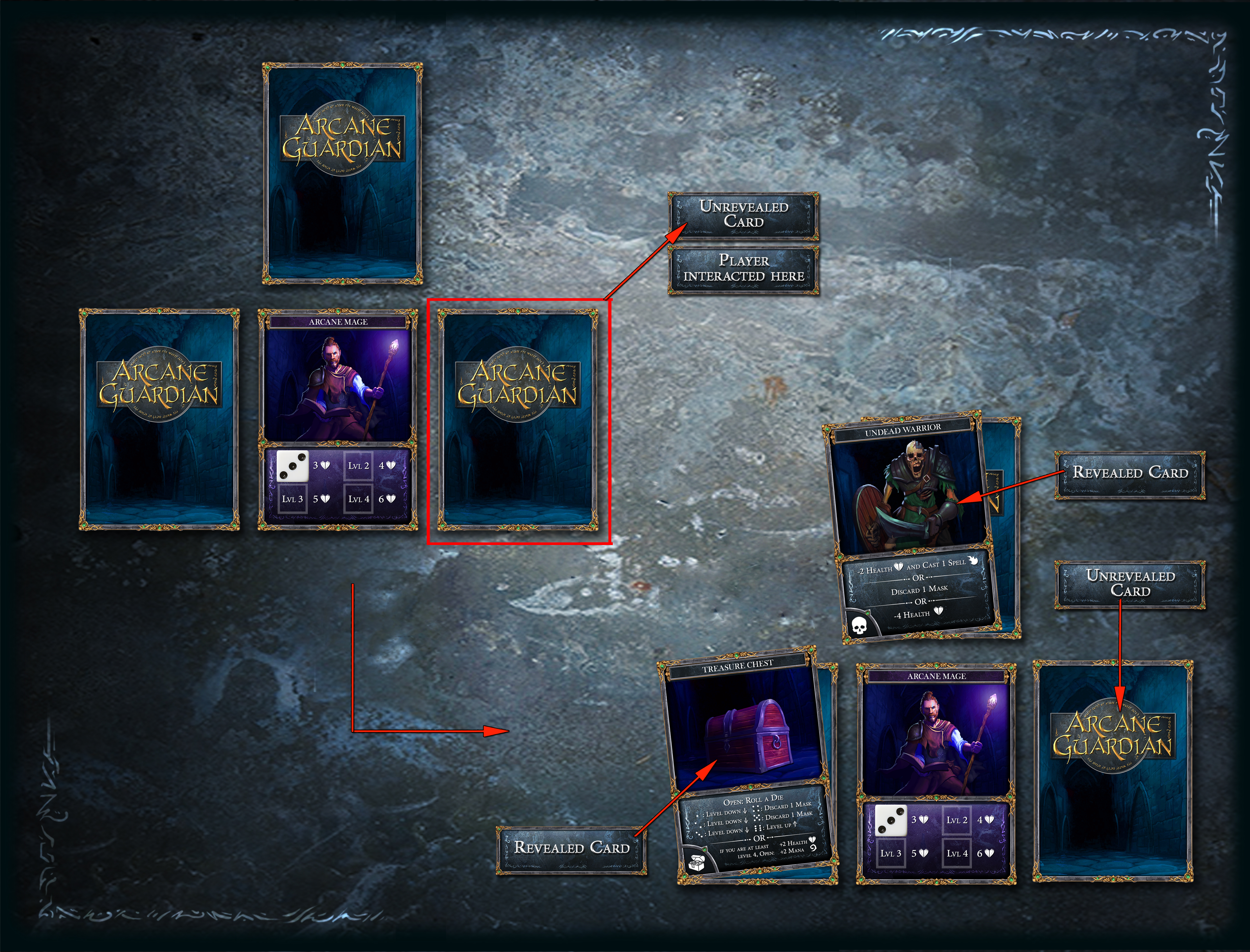 Reveal cards after interaction
